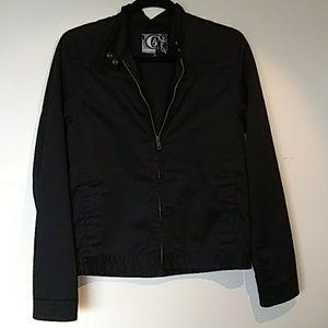 Volcom jacket black zip front Medium